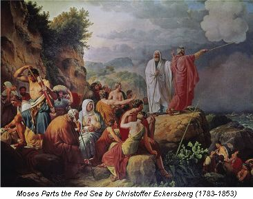 Moses Parts the Red Sea by Christoffer Eckersberg (1783–1853)