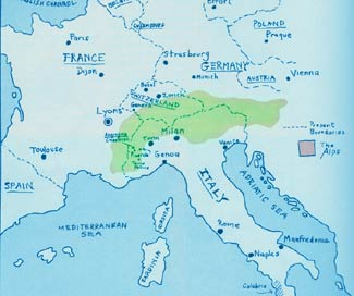 Persecution eventually drove the Waldensians to settle in the Alps along the French-Italian border and across northern Italy, southern Switzerland, and western Austria.