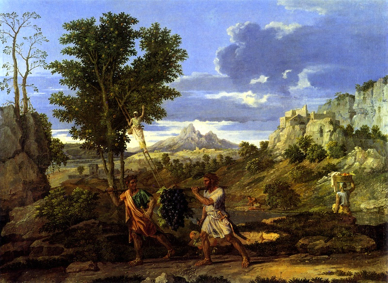"""""""The Grapes from the Promised Land"""" by Nicolas Poussin, 1660-64 (click image to enlarge)"""