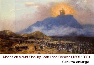 Moses at Mount Sinai