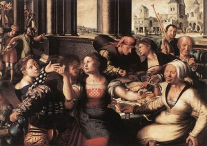 The Merry Company by Jan Sanders van Hemessen (1640)