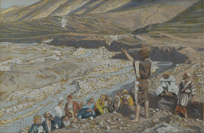 John the Baptist Sees Jesus from Afar by James Tissot