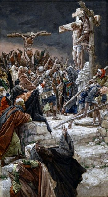 Pardoning of the Penitent Thief by James Tissot, 19th century (click to enlarge)