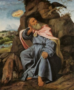 """""""Elijah Fed by the Raven"""" by Giovanni Savoldo, ca. 1510 (click image to enlarge) c. 1510"""