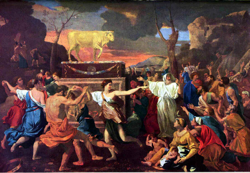 Golden Calf by Poussin